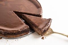 Czekoladowy cheesecake Fotografia Royalty Free