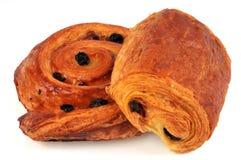 Czekoladowy chleb i rodzynka chleb obrazy stock
