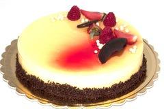 czekoladowy ciasto tort, jagody i Fotografia Stock