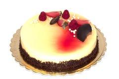 czekoladowy ciasto tort, jagody i Zdjęcie Royalty Free