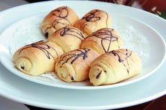 czekoladowy croissant fotografia royalty free