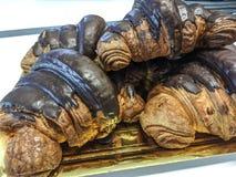 Czekoladowy croissant obraz royalty free