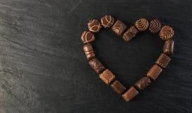 Czekoladowy cukierki tło Zdjęcia Royalty Free