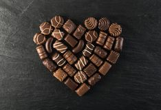Czekoladowy cukierki tło Zdjęcie Stock