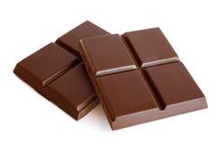 czekoladowy deserowy macro składa cukierki Zdjęcia Royalty Free
