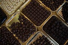 czekoladowy deserowy macro składa cukierki Zdjęcie Royalty Free