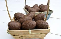 Czekoladowy Easter jajek temat Zdjęcie Royalty Free