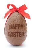 Czekoladowy Easter jajko Zdjęcia Royalty Free