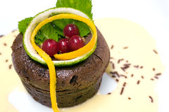 czekoladowy fondant francuza pudding Fotografia Stock