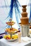 czekoladowy fondue Zdjęcia Stock