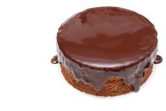 Czekoladowy ganache torta funt na białym tle Zdjęcie Stock