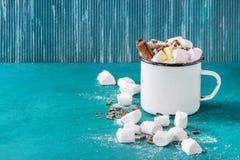 czekoladowy gorący marshmallow Obraz Royalty Free
