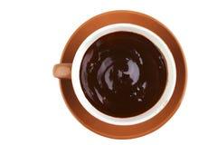 czekoladowy gorący nadmierny biel Zdjęcia Royalty Free