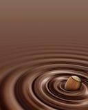 czekoladowy hazelnut zawijasa whit Zdjęcie Stock