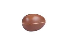 Czekoladowy jajko na białym tle Fotografia Stock
