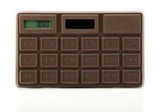 Czekoladowy kalkulator Zdjęcie Stock