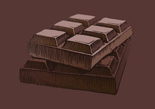 czekoladowy kawałek Zdjęcie Royalty Free