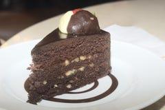 czekoladowy kawałek tortu Obraz Royalty Free
