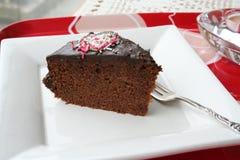 czekoladowy kawałek tortu Fotografia Stock