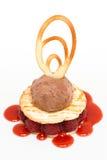 czekoladowy kremowy chipsa lodu malinki opłatek Obrazy Royalty Free