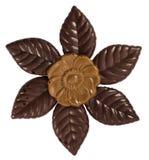 Czekoladowy kwiat odizolowywający Obrazy Stock