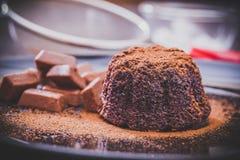 Czekoladowy lawa tort Fotografia Stock
