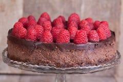 Czekoladowy malinowy cheesecake Obrazy Royalty Free
