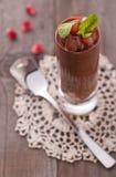 czekoladowy mousse zdjęcie stock