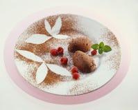 czekoladowy mousse Fotografia Royalty Free