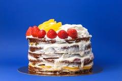 Czekoladowy nagi tort zdjęcie stock