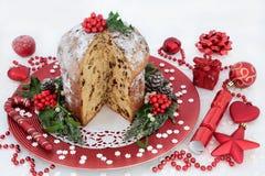 Czekoladowy Panettone bożych narodzeń tort Zdjęcie Stock