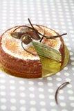 Czekoladowy Pistacjowy krepa tort obrazy royalty free