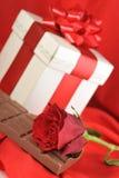 czekoladowy prezent zdjęcia stock