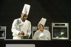 Czekoladowy przedstawienie salon Du Chocolat Fotografia Royalty Free