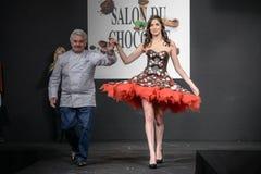 Czekoladowy przedstawienie salon Du Chocolat Obraz Royalty Free
