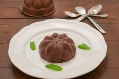 Czekoladowy pudding z imbirem i mennicą Obraz Stock