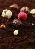 Czekoladowy rodzaj na kakao fotografia royalty free
