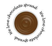 czekoladowy rozszerzanie się Obrazy Royalty Free