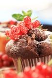czekoladowy słodka bułeczka fotografia royalty free