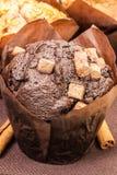 Czekoladowy słodka bułeczka Zdjęcia Royalty Free