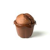 Czekoladowy słodka bułeczka Fotografia Stock