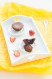 Czekoladowy słodka bułeczka Obrazy Royalty Free