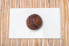 Czekoladowy słodka bułeczka obraz stock