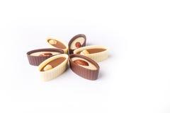 czekoladowy słodyczami białe tło Zdjęcia Stock
