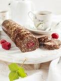 Czekoladowy salami zdjęcie stock