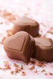 czekoladowy serce Zdjęcie Stock