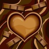 czekoladowy serce Zdjęcie Royalty Free