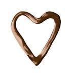 czekoladowy serce Zdjęcia Royalty Free