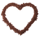 czekoladowy serce Fotografia Stock