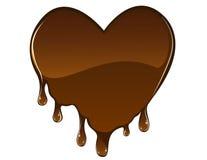 czekoladowy serce ilustracja wektor